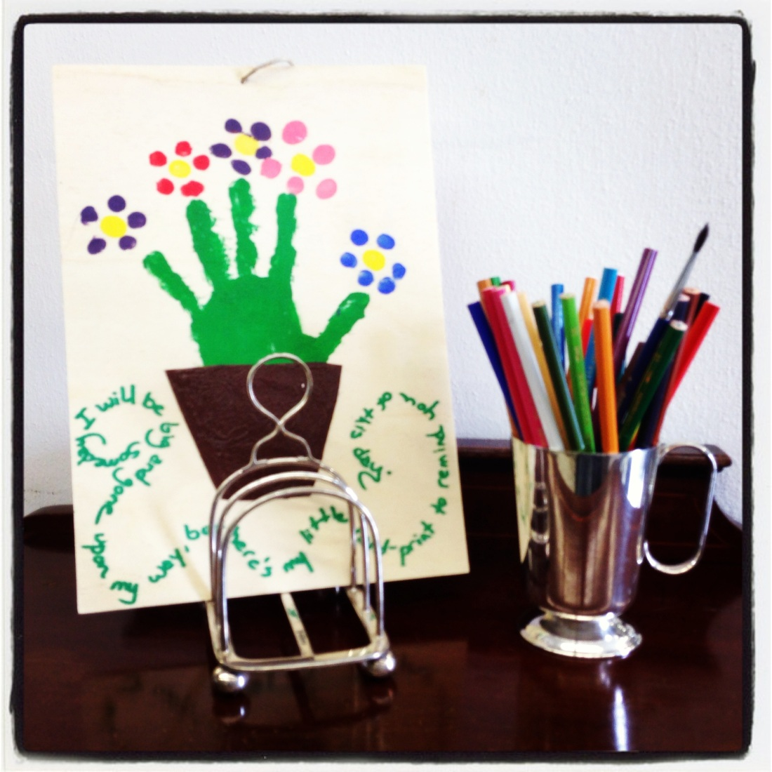 Mother's Day present: A REAL HAND PAINTING